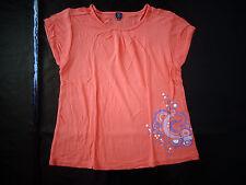 tee-shirt orange 10 ans Terre de Marins TBE