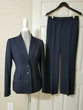 ANNE KLEIN Women`s Black/Gray Pinstripe  2 Pc. Pants & Blazer Business Suit Sz.6