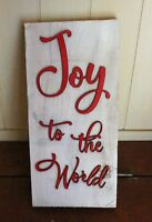 Joy to the World Reclaimed Pallet Wood Sign