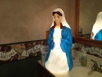 "Vintage 26"" Empire Christmas Mary Lighted Blow Mold Nativity Yard Decor"