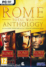 Rome Total War Anthology PC Barbarian and Alexander Brand New Sealed