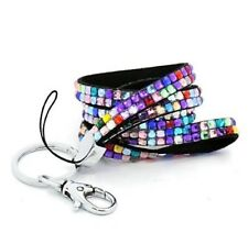 sparkly Lanyard ID badge card holder Neck Strap sparkly clip Rhinestones crystal