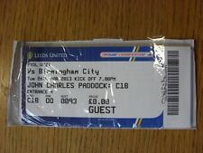 26/03/2013 Ticket: Leeds United U21 v Birmingham City U21 (Complete)