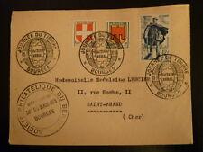 FRANCE PREMIER JOUR FDC YVERT 863    FACTEUR RURAL     12+3F   BOURGES   1950