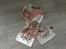 accessorize  scarf velvet Embroidered Floral Green Gold Pink