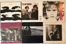 U2 6 LP Lot: Boy War October Unforgettable Fire Joshua Tree Wide Awake n America