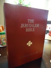 The Jerusalem Bible- 1st. Deluxe ,Red Leather in Box-1970- Dali Illus. Tolkien T