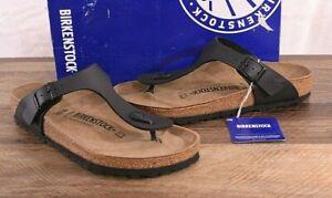 Birkenstock Gizeh Birko-Flor Sandals Thongs 7-7.5 Med 38 Shoes Black 0043691 NEW