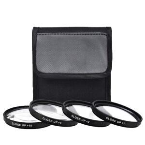 67mm Close-Up Filter Set +1 +2 +4 +10 Magnification Macro HD 4 Piece Set