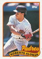 Roberto Alomar 1989 Topps #206 San Diego Padres Baseball card Hall of Fame HOF