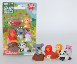 Novelty Japanese Animal Erasers Rubbers - IWAKO Eraser Blister Sets