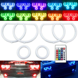 RF 6 LED Halo Ring Cotton RGB for Dodge Challenger 08-14 Headlight Fog Light DRL