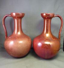 William De Morgan Fulham Pottery Jugs x 2 Ruby Lustre Glaze - Arts & Crafts