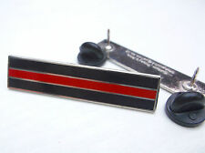 THIN RED LINE MERIT CITATION FIREMAN FIREMEN FIREFIGHTER MOURNING BAND PIN BADGE
