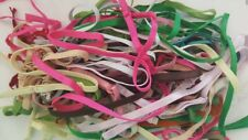 LOT 10 PR or 20 pieces  ELASTIC MIXED RANDOM COLORS BRA STRAP STRAPS SEW ON 1/4""