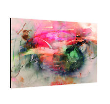 Canvas Picture Paul Sinus Enigma Series 120x80cm Timeless Pink Green Orange