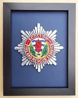 Large Scale Framed SCOTTISH FIRE & RESCUE SERVICE Badge Plaque