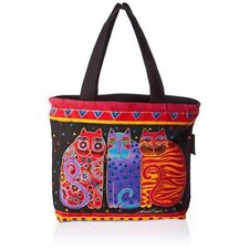 "Laurel Burch Mini Tote 11""x1""x10""-feline Friends"
