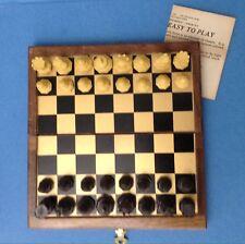 DRUEKE Magnetic Chess Set #90010 LITTLE JEWEL Vintage NOS SEALED Folding Travel