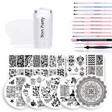 24Pcs Kit Born Pretty Nail Art Stamping Plate & Stamper & Scraper & UV Gel Brush