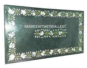 3'x2' Marble Dining Table Top Pietradura Floral Inlay Marquetry Room Decor H934