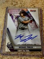 MICHAEL TOGLIA 2019 BOWMANS BEST REFRACTOR ON CARD AUTO AUTOGRAPH  JP117C