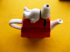 Vintage Snoopy Teapot w/ Snoopy Lid - Red w/ White Handle and Spout