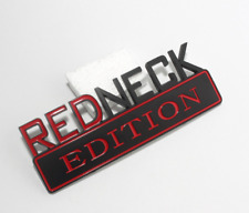 1pc 7 Inch Redneck Edition Black Red Emblem Decal Badge for Truck Boat Car
