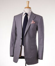 New Custom $4695 OXXFORD HIGHEST QUALITY Gray Stripe Wool Suit Slim 38 R