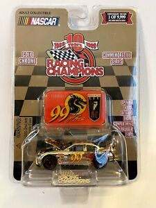 New Nascar Racing Champions Bruce Lee Gold Chrome Ford #99 Jeff Burton 1:64