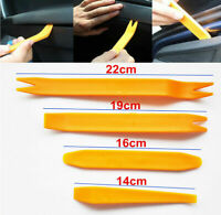 Car Door Trim Removal Tool Pry Bar Panel Dash Radio Body Clip Installer Kit 4Pcs