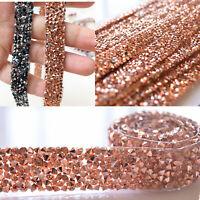 Rhinestone Beaded Trim Iron on Belt Diamante Applique Ribbon Crafts for Costumes