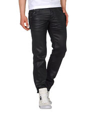 Energie Coated Black Jeans, Side Zip, Size 31