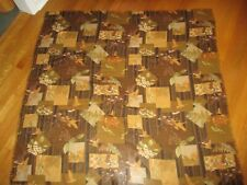 Ladies Salvatore Ferragamo Brown Flying Geese Flowers Large Woven Scarf 54 x 53
