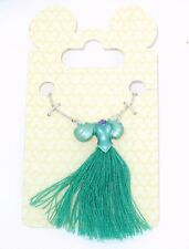 "Disney Park Authentic✿Little Mermaid Tassel Dress 18"" Necklace✿Ball Gown Ariel"