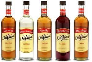 DaVinci Gourmet 750 mL All Natural Flavoring Syrup (select flavor below)