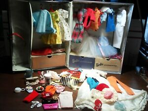 Vintage Barbie, 1961 Mattel Ponytail Barbie Case Lots of Clothes and Accessories