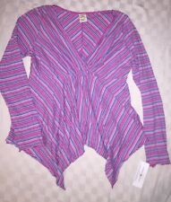 NWT Tommy Jeans Hilfiger Women's Top XL Cotton stripe tunic pink blue