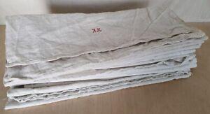 11 schöne alte Leinen Handtücher Handgewebt um 1900 0,43m x 1,20m bis 1,60m