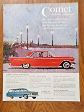 1961 Mercury Comet Ad  Coupe & Wagon