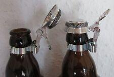 Bierflaschen-Zinndeckel Flaschendeckel Deckel flach 1x Flachdeckel NEU