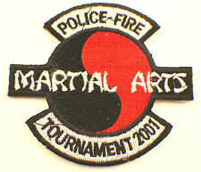 Martial Arts Embroidered Uniform Patch Police Fire Tournament 2001 Msbk