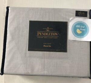 Pendleton Twin Duvet & Std Sham Los Ojos Ivory/Black Cotton  2 pc New Rare