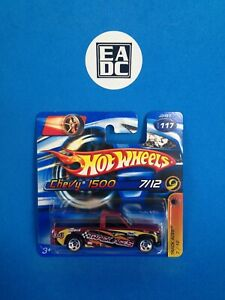 2006 HOT WHEELS CHEVY 1500 PICKUP TRACK ACES 7/12 MAROON EADC SHORT