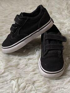 Vans Infant Size 7.5 (EUR 24.5) Black White Trainers