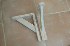 """Wooden Shelf Brackets x 2 (Ideal for 8"""" - 9"""" Shelves)"""