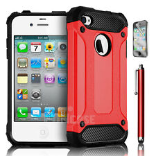 For Apple iPhone Armor Rugged Shockproof Rubber Matte Silicone Hybrid Case Cover