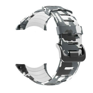 Camouflage Silicone Band for Suunto Core Watch Strap Rubber Floral Bracelet Belt