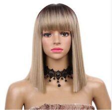 Fashion Charming Synthetic Blonde Straight Medium 14Inch Cosplay Wig