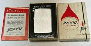 Vintage Zippo 1962 Brushed Chrome Lighter | UNUSED in BOX | EXTREMELY RARE |